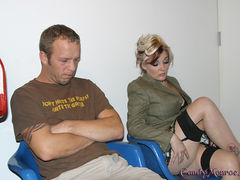 Justin Again & Sillly Cuck Billy @ CandyMonroe.com My cuckold today, Billy, was a bad boy so I didn't give him the honor of watching me fuck Justin Long and his big black dick. I kept him in my secret hideout while Justin gave my pussy a workout like no other. I rode that black shaft in true Candy Monroe fassion. There is a soft spot in my heart since I allowed Billy to lick off the pool of black jizz that Justin Left behind. Actually, he did that while wearing a diaper since he hasn't been potty trained well enough. After his tongue cleaned up he was back in my secret hideout spot hopefully thinking of ways he could make his queen happy in the future. Visit CandyMonroe.com , home of the original Cuckold Queen Justin Again & Sillly Cuck Billy